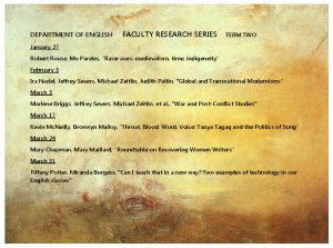 Faculty Research Series T2
