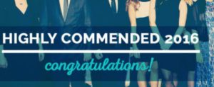 Undergraduate Awards 2016 - Highly Commended